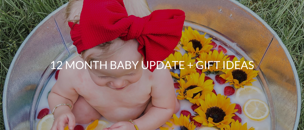 12 Month Baby Update + First Birthday Gift Ideas | Meekly Loving by Sydney Meek